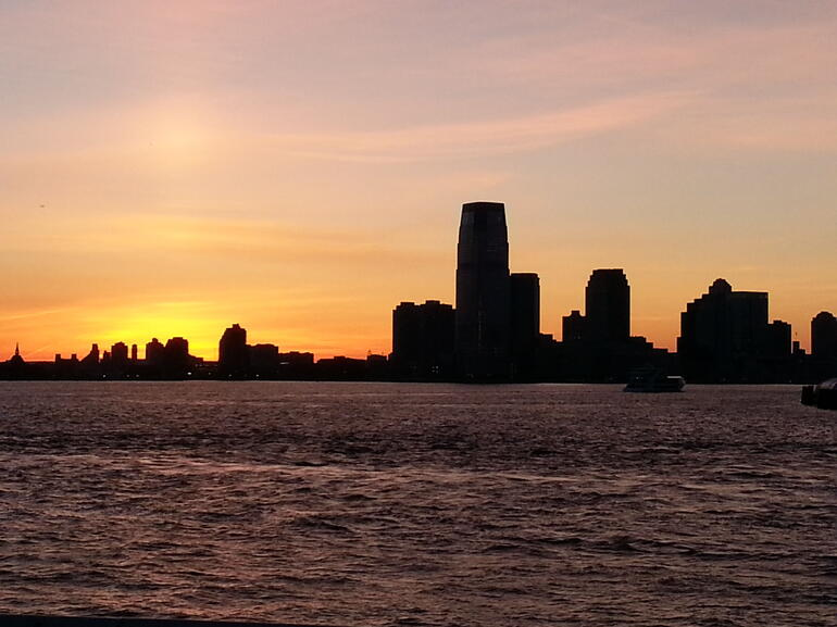 Sunset over New Jersey - New York City