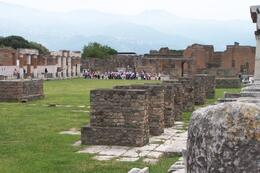 Looking south across the forum at Pompeii. - May 2008