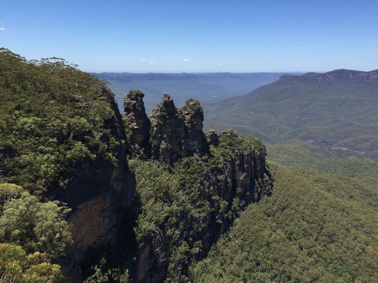 Mid day shot of Three Sisters