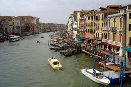 Photo of   View from the Rialto Bridge over the Grand Canal