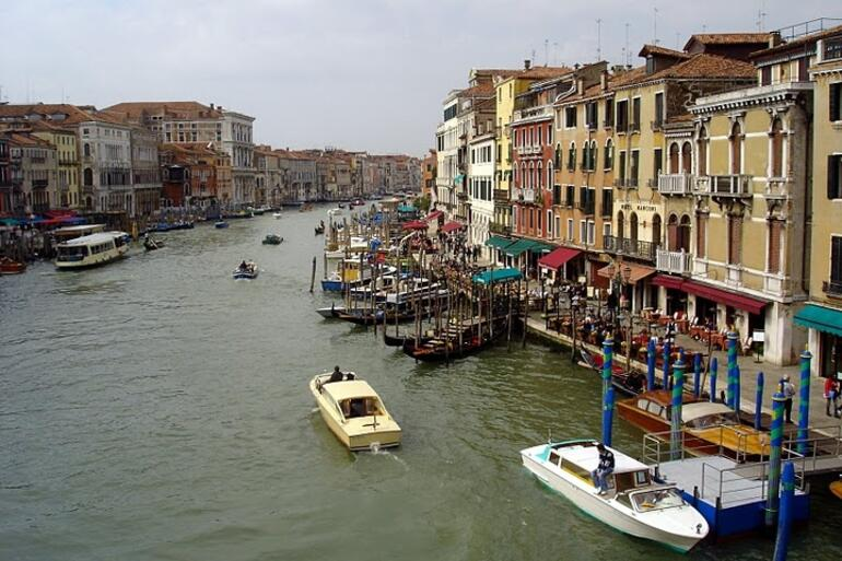 View from the Rialto Bridge over the Grand Canal - Venice