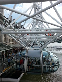 On the London Eye, HTravelerUK - September 2013