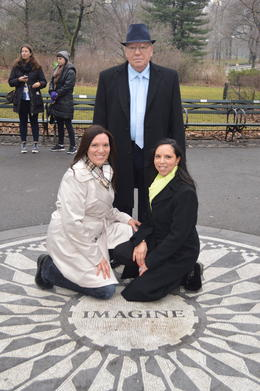 Father daughter reunion. John Lennon's Imagine memorial in Central Park. , Serena G - January 2013