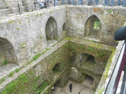 In line to kiss the Blarney Stone (looking down inside the Blarney Castle.) , LAFRAGIA M - June 2012