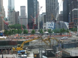Progress of the memorial at Ground Zero , Karen D - June 2011