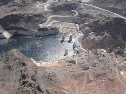 Wonderful views of Hoover Dam and Lake Mead, Lindy - March 2013