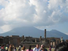 Mt Vesuvius in background of Pompeii., Mark M - September 2010
