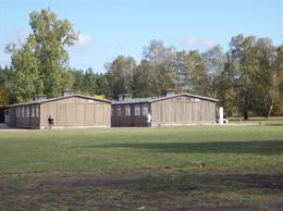 "The two remaining barracks where the ""prisoners"" were housed., Wilfred M - October 2008"