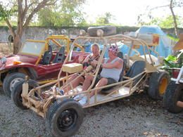 Steve and Jacqui Ward begin their half day Dune Buggy Adventure. WOW! Our adventure was an excellent experience and we would definitely do it again Driving through the Dominican countryside and ... , Jacquelyne Anne W - March 2014