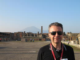 Mounth Vesuvius in the background. , tata - November 2013