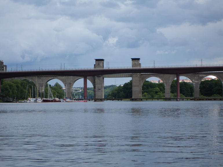 Stockholm Bridge from the cruise boat - Stockholm