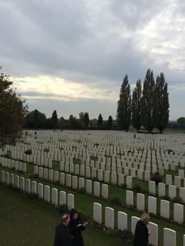 Tyne Cot was particularly significant to our Australian group , Anne K - October 2014