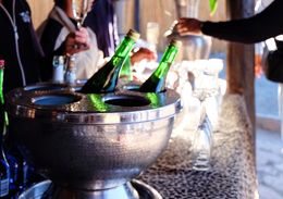 All guests are treated to drinks when coming to Aquila , purizaca - April 2016