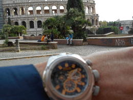 This is at the square above the metro at the Colosseum. , Lloyd B - December 2014