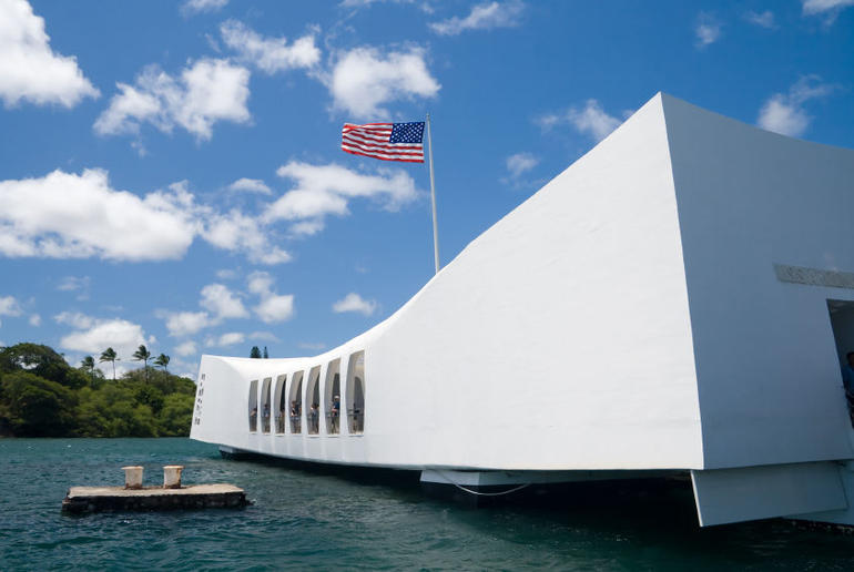 USS Arizona Memorial in Pearl Harbor - Oahu