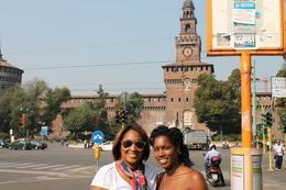 Photo in front of Castello Sforzesc , Nikki H - October 2011