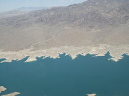 Flying over Lake Mead. The pilot was great with his commentary and telling us a few extra interesting facts that weren't on the commentary that we were also listening too. , S L G - July 2014