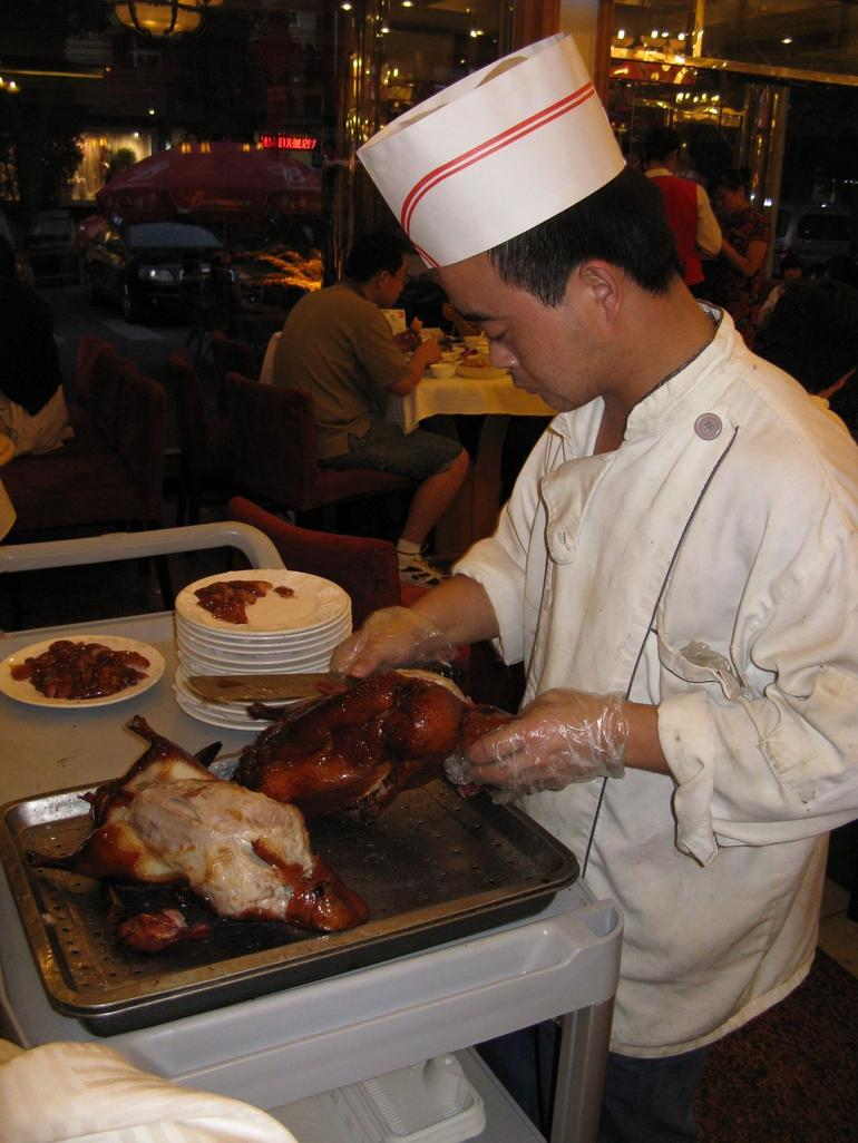 Eating and drinking traditional style: Peking Duck - Beijing