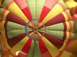Releasing the hot air in the balloon so we can safely deflate the balloon. - April 2010
