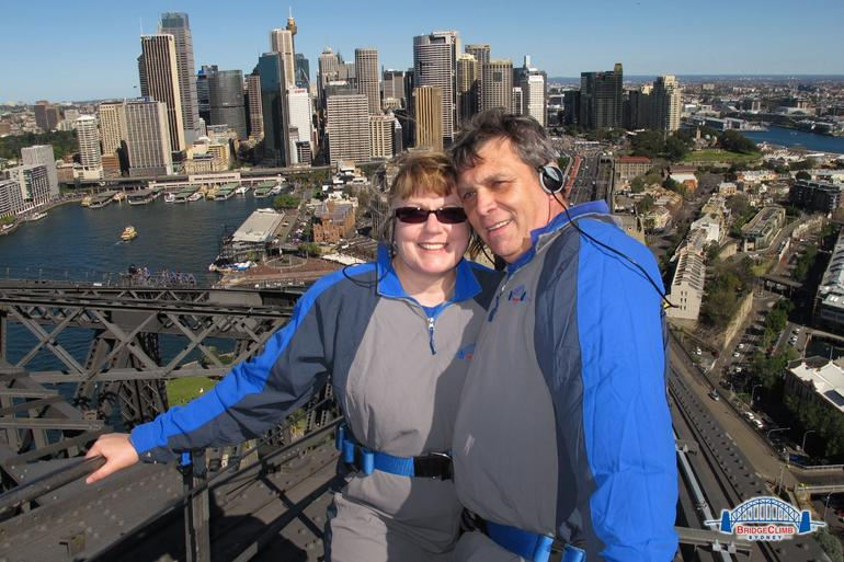 this is on the very top of the bridge - Sydney