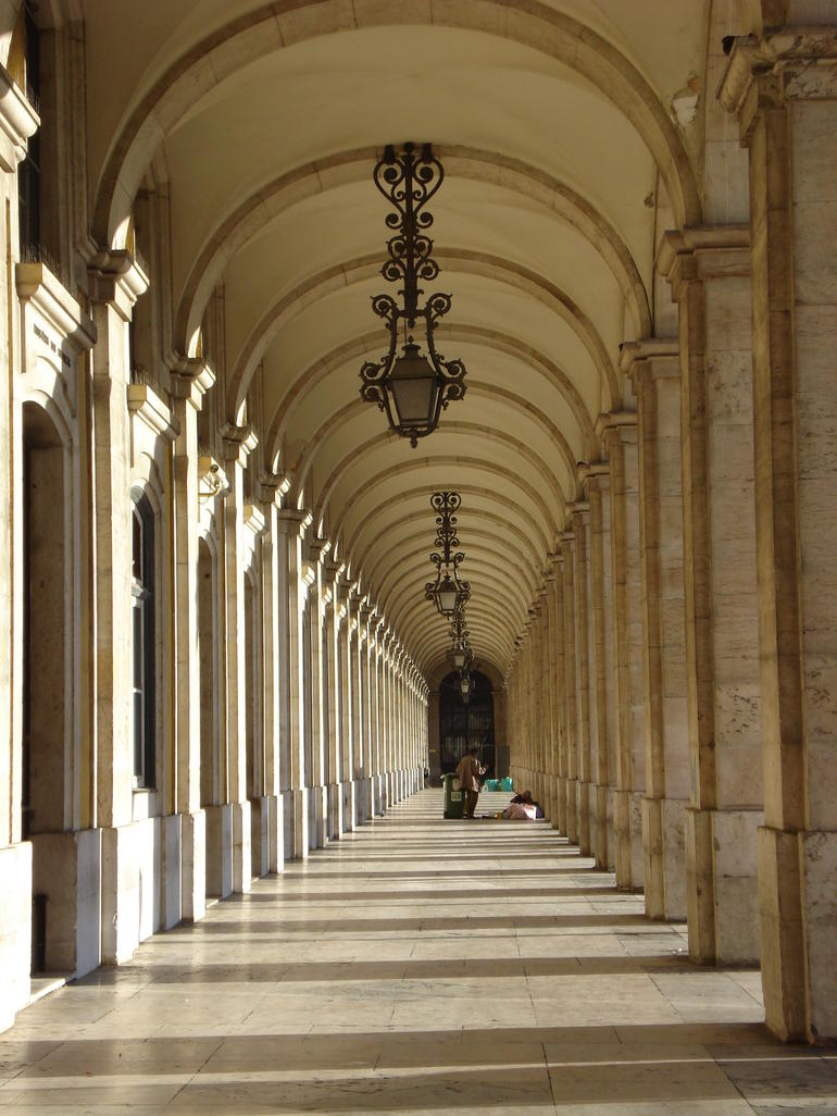 Archways in Comercio Square - Lisbon