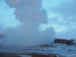 This is just after the geysir exploded! , Lauri S - January 2016