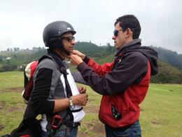 Mr Ramesh is getting ready for ParaGliding , Ramesh J - March 2014