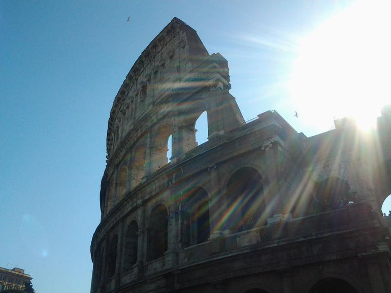 Colliseum pic on a beautiful sunny day - Rome
