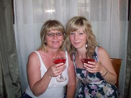 me and my daughter, im scout drinking cosmo's - June 2010