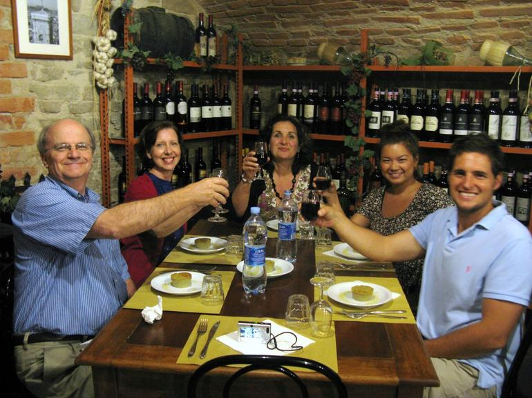 Dinner in the wine cellar - Florence