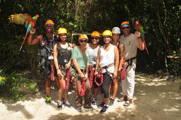 Photo of   Family getting ready to Zipline