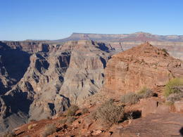Looking down edge of canyon toward Guano Point. , DHill - December 2013
