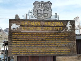 Photo of Las Vegas Arizona Ghost Towns and Wild-West Day Trip from Las Vegas Hisotic Oatman Ghost Town sign