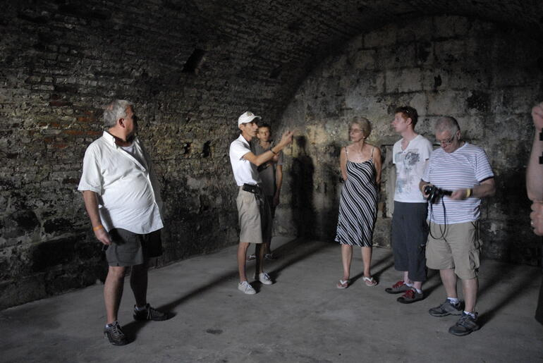 Inside one of the fort's many chambers - Grenada