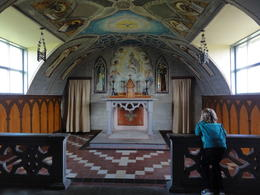 Picture of the altar inside the Italian Chapel on Orkney. Amazing given it was all constructed using leftover materials. , William B - July 2013