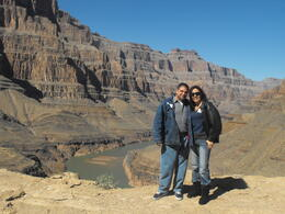 That is the Colorado river behind us., Lindy - March 2013