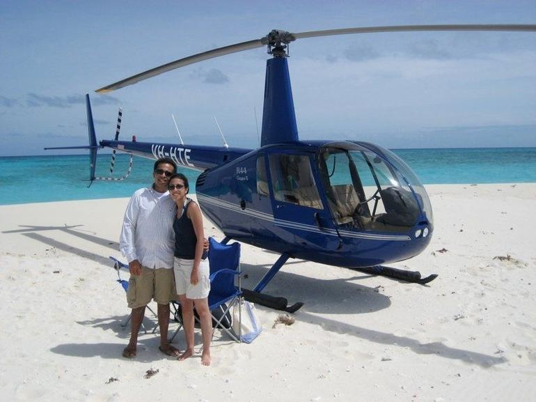 Our heli and caye - Cairns & the Tropical North