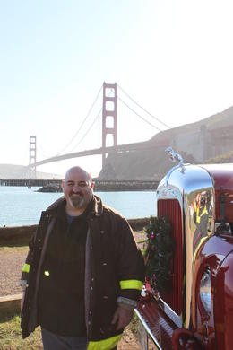 Photo of San Francisco San Francisco Fire Engine Tour Photo op on the north side of the bridge.