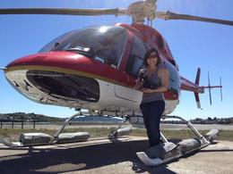 Jules with the helicopter, Jules & Brock - July 2012