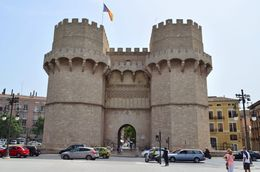 The tower of Serranos is one of the remaining medieval city gates in Valencia. , David Lally - May 2015