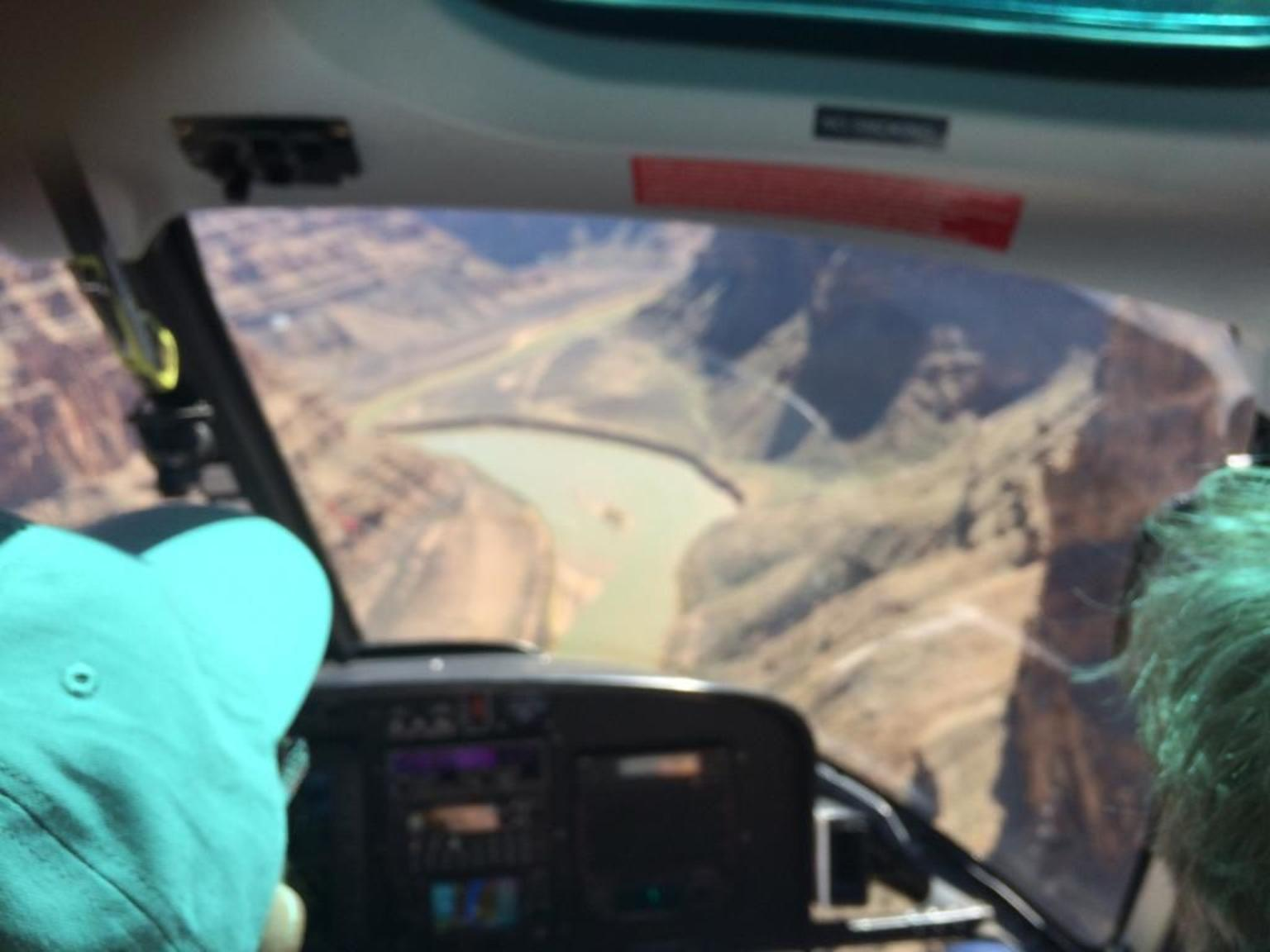 Grand Canyon West Rim Day Trip by Coach, Helicopter and Boat with Optional Skywalk