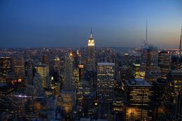 """It was breathtaking, evening on """"Top of the Rock""""., Reinhard D - June 2008"""