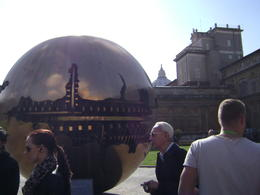 The reproduction of the world in center of the courtyard inside Vatican City , David W - December 2014