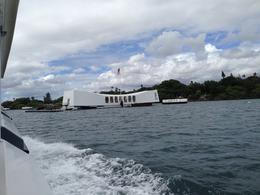 Photo of Oahu Arizona Memorial, Pearl Harbor and Punchbowl Sightseeing Tour Boat ride out to the USS ARIZONA MEMORIAL
