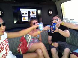 Photo of Las Vegas Las Vegas Pool Party Tour Drinks on the way