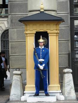 Photo of Stockholm Stockholm Gamla Stan Walking Tour Guard outside the Royal Palace