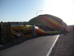 Watching the balloon inflate. - April 2010
