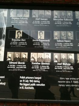Among the thousands of Jewish people who died at Auschwitz there were many other victims of the Nazzi brutality, the Polish people, catholics,gypsies, religious folk and other nationals - April 2010