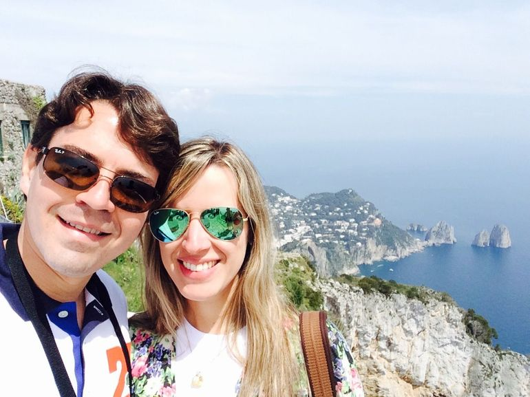 We in Capri.