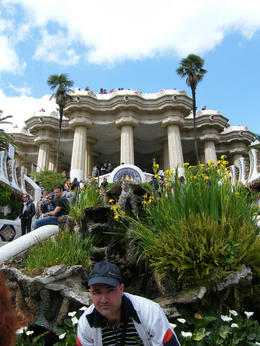 This trader popped up just as I was taking a pic at Park Guell. , Piggie - April 2012